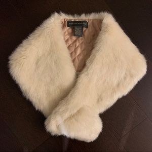 Banana Republic Faux Fur Shawl Scarf